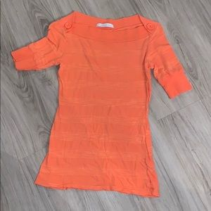 Beautiful orange 3/4 length sleeve top